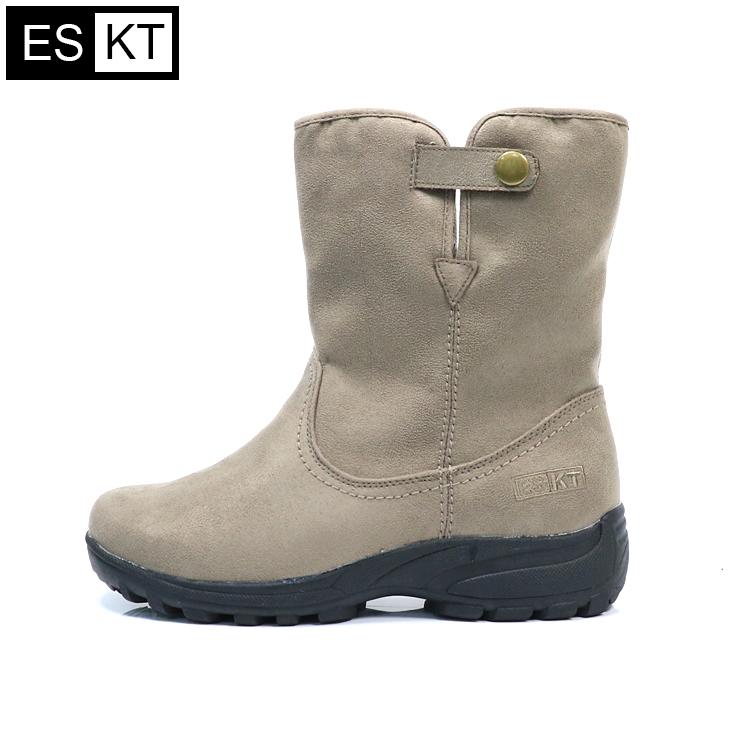 ESKT 女短筒雪鞋SN235 城市綠洲  雪靴、防潑水、刷毛、冰爪