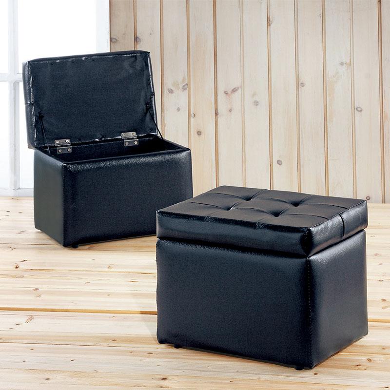 【ABOSS】Elle 掀蓋沙發收納椅-黑