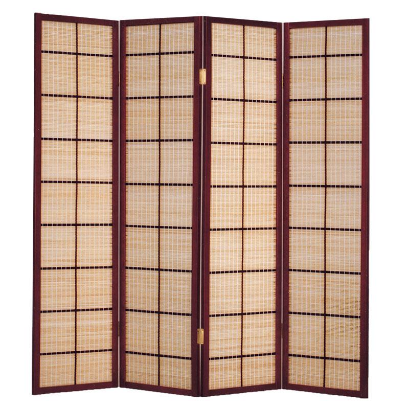 【ABOSS】古典紅木竹編屏風