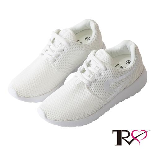 【TRS】透氣網布空氣增高鞋 ↑7cm 米白(7100-0057)