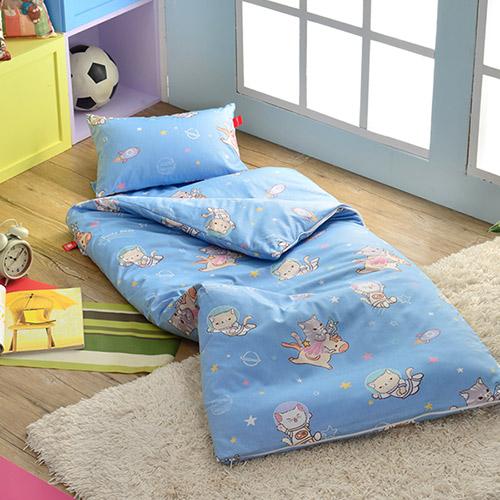 義大利Fancy Belle X DreamfulCat~夢遊星空~單人防蹣抗菌兒童睡袋