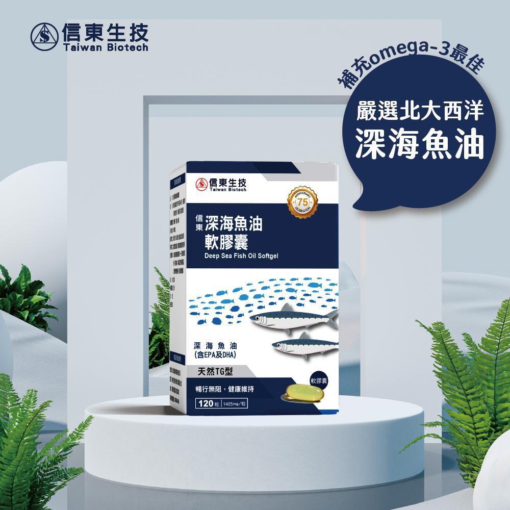 ~信東生技~深海魚油軟膠囊 120粒盒