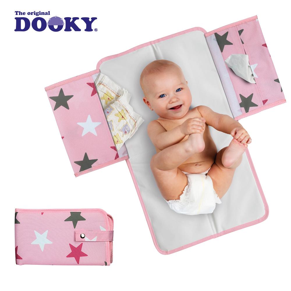 荷蘭DOOKY- 嬰兒外出尿布墊-粉紅星星