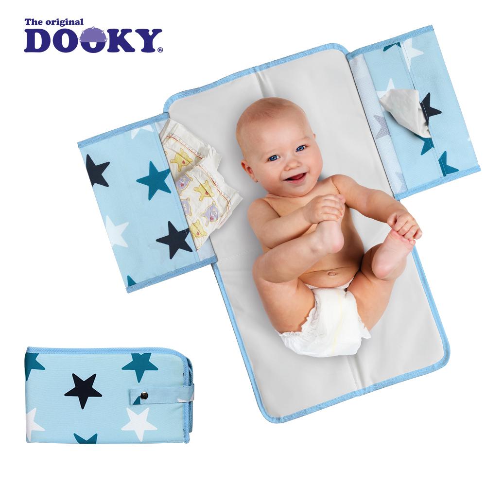 荷蘭DOOKY- 嬰兒外出尿布墊-粉藍星星