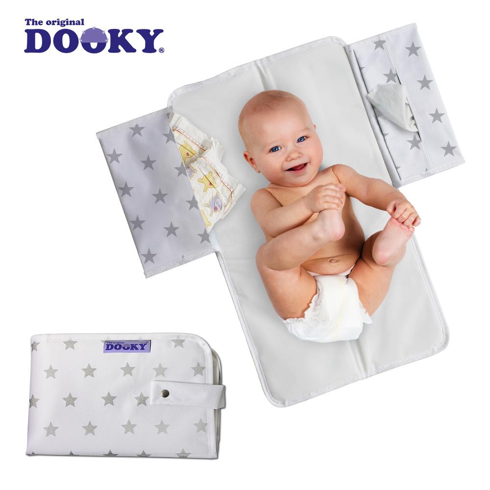 荷蘭DOOKY- 嬰兒外出尿布墊-銀白星星