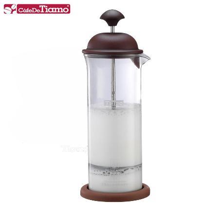 【真心勸敗】gohappy快樂購物網Tiamo 玻璃奶泡杯400ml咖啡色 附底墊 (HG5265)有效嗎嘉義 sogo