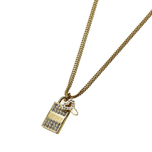 【DKNY】真愛之鑰項鍊(金)
