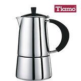 Tiamo JOLE 6杯份義式摩卡壺(HA2250) ◆送:義式濃縮咖啡杯盤6客組(市價$1280)