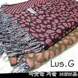 《Lus.G》乳牛方格圍巾