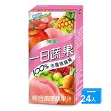 波蜜100%水蜜桃蘋果蔬果汁160ml*24