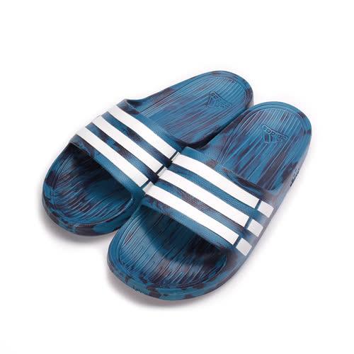 (男) ADIDAS DURAMO SLIDE 一體成型套式拖鞋 彩深藍 S80967 男鞋 鞋全家福