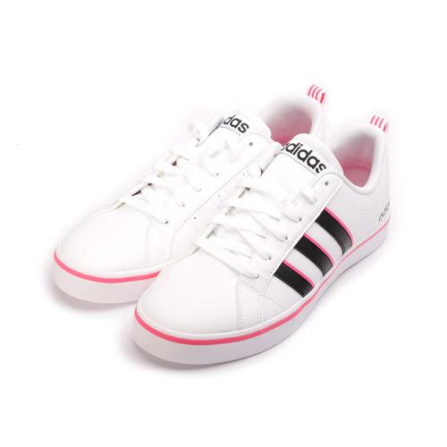 (女) ADIDAS VS PACE W NEO 復古網球鞋 白黑粉 B74281 女鞋 鞋全家福