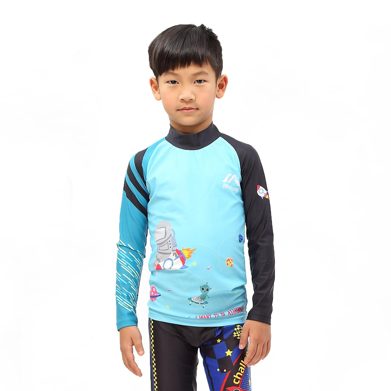 ≡MARIUM≡ 小孩半身水母衣  長袖防曬衣  MAR~7813 ~可愛太空人~