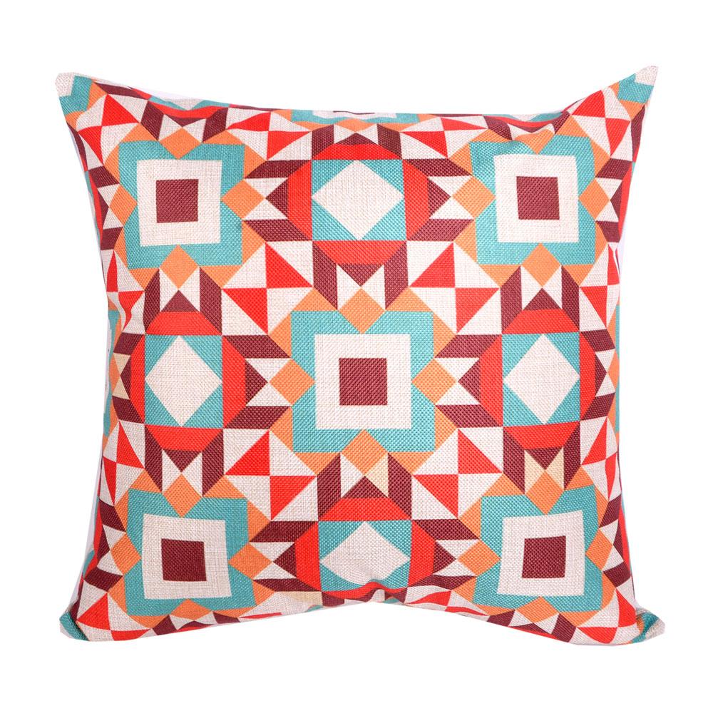 幾何原創 棉麻舒適方型抱枕.靠枕 (萬花筒)