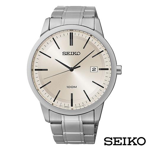 SEIKO精工  極簡風尚三大針石英男錶 SGEH07