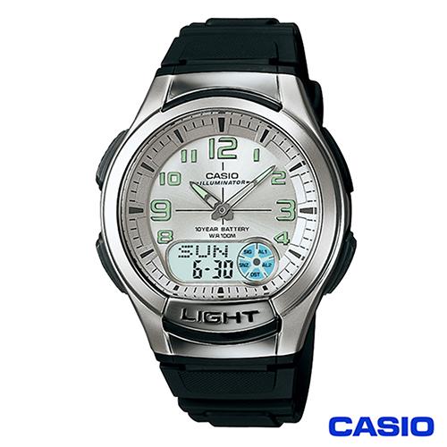 CASIO卡西歐 經典雙顯多功能運動手錶 AQ-180W-7B