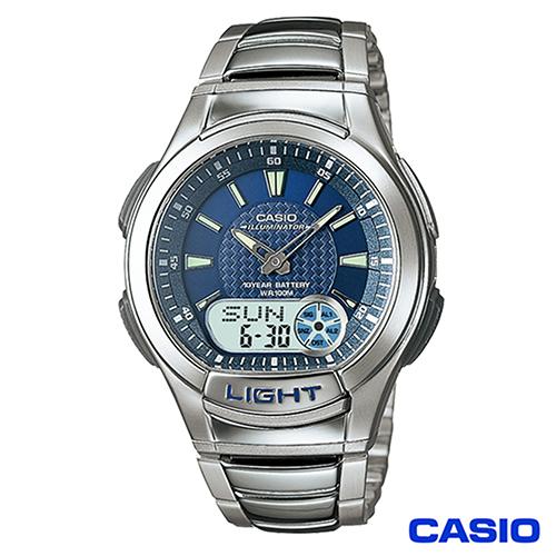CASIO卡西歐  經典雙顯多功能不鏽鋼帶運動手錶 AQ-180WD-2A
