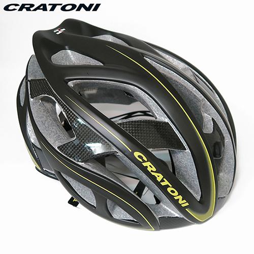CRATONI 德國 品牌 TERRON 公路車用安全帽碳纖維支架~黑黃