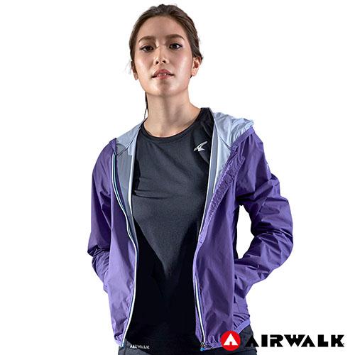 ~AIRWALK~女款連帽風衣外套~紫色