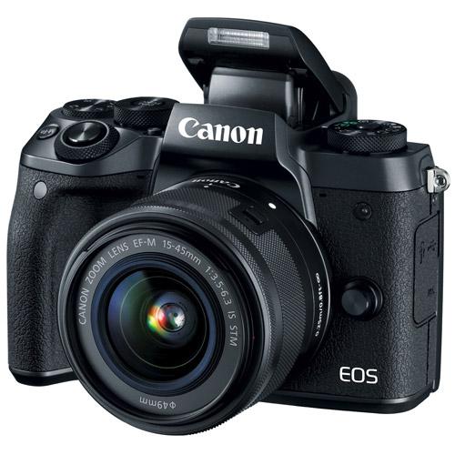 CANON EOS M5+EF-M 15-45mm IS STM(公司貨)贈64G卡+專用電池&座充組+UV鏡+吹球清潔組+三腳架+單眼相機包+硬式保貼+水平儀通用型熱靴蓋+快門線
