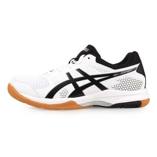 (女) ASICS GEL-ROCKET 8 排羽球鞋-排球 羽球 亞瑟士 白黑