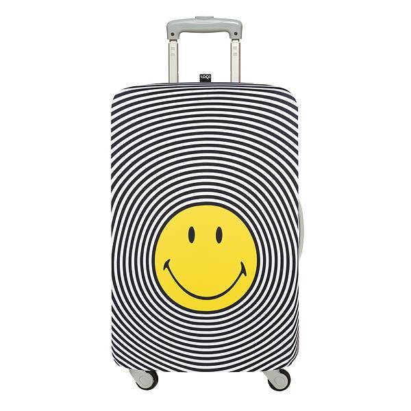 LOQI 行李箱套【M號】/ 笑臉 LMSMSP