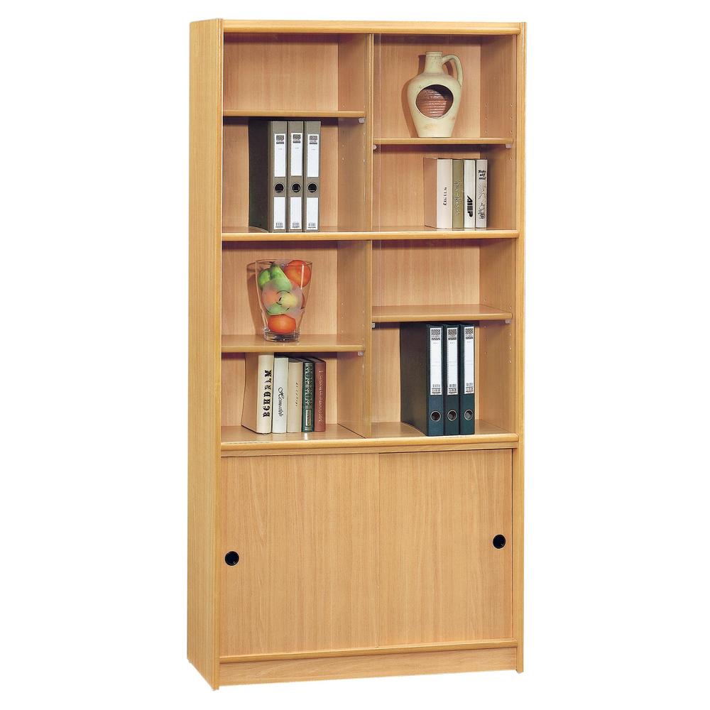 【顛覆設計】諾亞3x6尺山毛色書櫃(附玻璃門片)