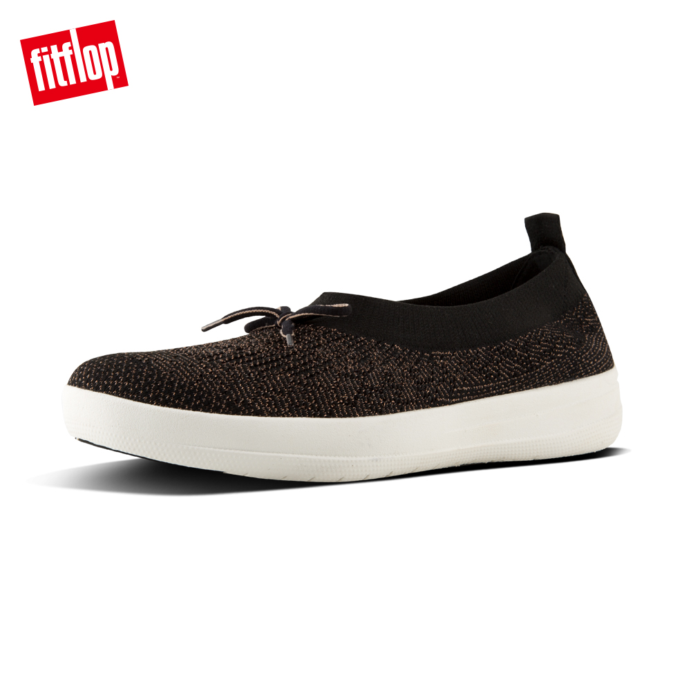 FitFlop UBERKNIT TM SLIP-ON BALLERINAS黑/金
