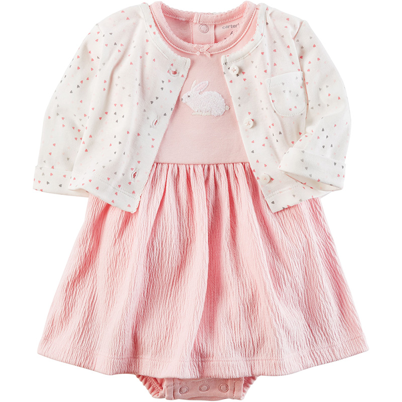美國 Carter Carter s 嬰幼兒春夏外套洋裝包屁衣組_愛心白鼠 CTGSCD1
