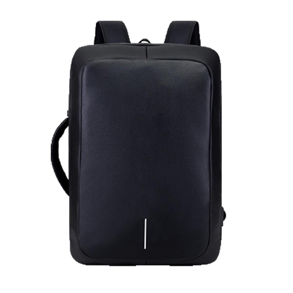 ~Picano~ 極簡PE硬殼USB充電防盜電腦包WB1215BK 黑色14.1吋