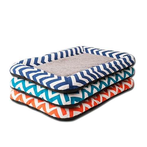 寵物愛家-波浪紋麻布寵物涼墊(Z050)