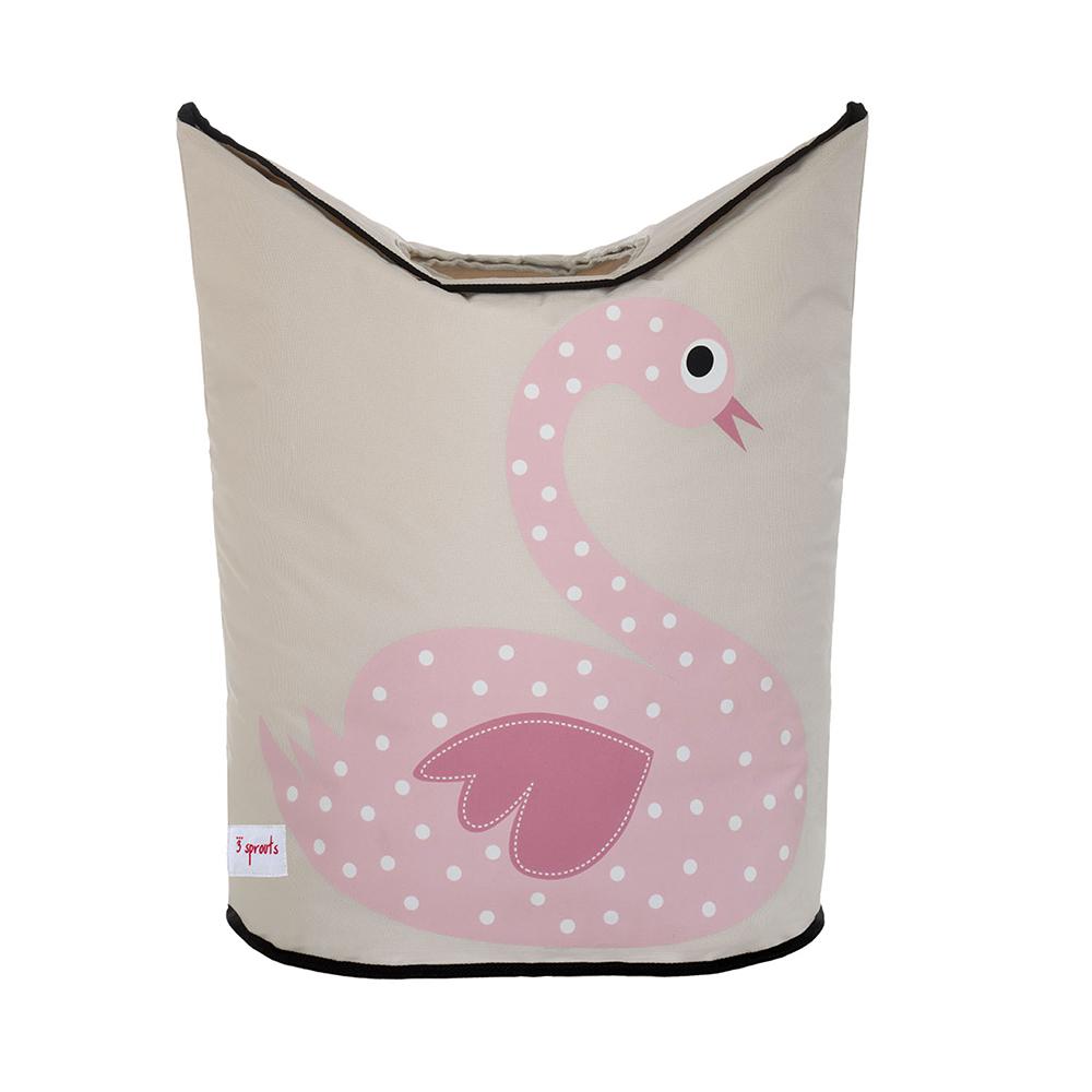 加拿大 3 Sprouts 粉紅天鵝洗衣籃