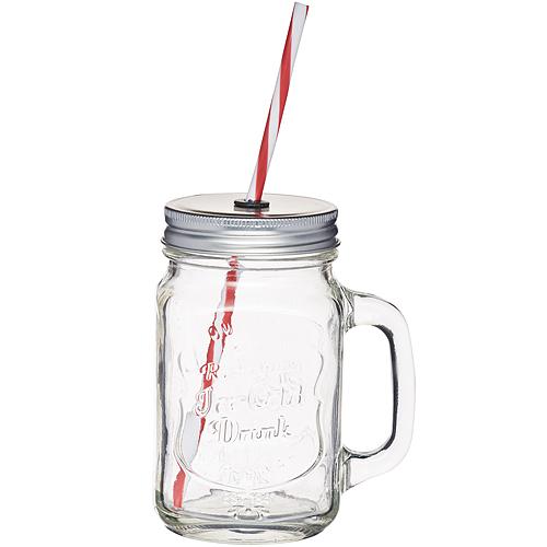 ~KitchenCraft~單柄梅森玻璃杯 450ml
