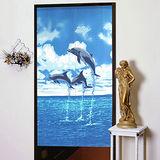 棉花田【海洋季】海豚長門簾(85x150cm)