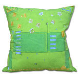棉花田【花園】純棉印花大抱枕-綠色(60x60cm)