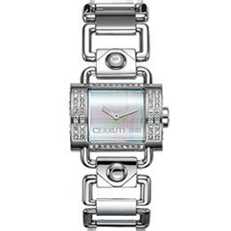 CERRUTI 1881 半月彎華麗奢華時尚腕錶(銀)