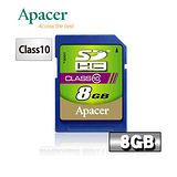 Apacer宇瞻 8GB SDHC Class10記憶卡
