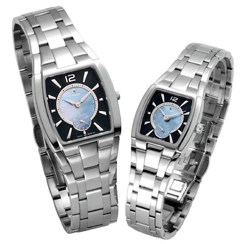 CYMA 典雅歐風小秒盤薄型對錶(藍)