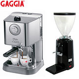 GAGGIA NEW BABY CLASS半自動咖啡機(HG0183)+500N磨豆機-黑色