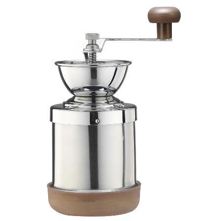 Tiamo不鏽鋼陶瓷磨豆機附止滑墊(HG6063)
