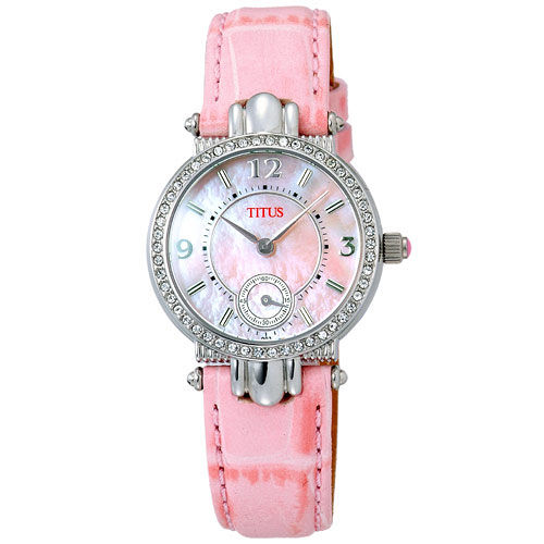 TITUS鐵達時 時尚公主氣質腕錶(粉紅)