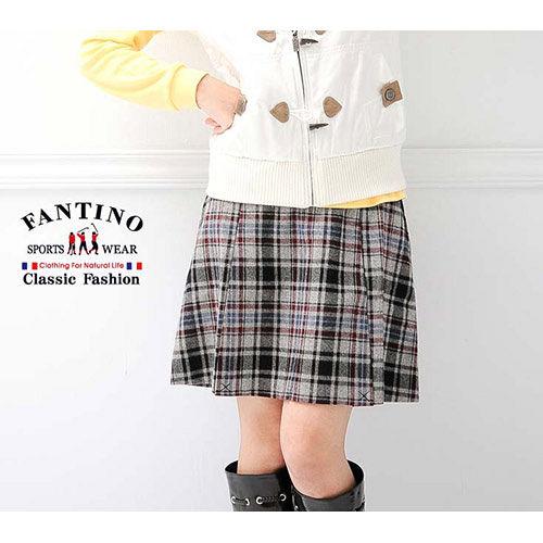 【FANTINO】蘇格蘭裙,羊毛材質超保暖!!(黑紅) _963205