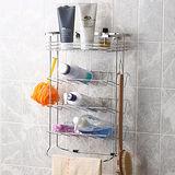 ◤沐浴用品收納◢衛浴專用不鏽鋼掛放二用便利收納棚