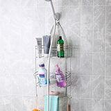 ◤沐浴用品收納◢衛浴專用不鏽鋼蓮蓬頭吊掛收納棚