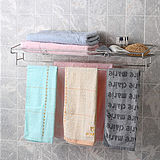 ◤浴巾‧衣物‧用品◢衛浴專用不鏽鋼寬型便利收納棚