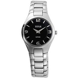 TITUS鐵達時 爵士風采超薄時尚腕錶(黑-小)