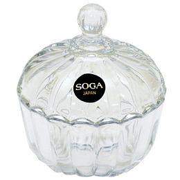 日本SOGA玻璃條紋小罐(Z116W)