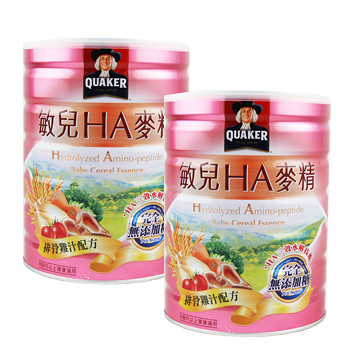 桂格QUAKER 敏兒HA麥精排骨雞汁配方700g (兩罐入)