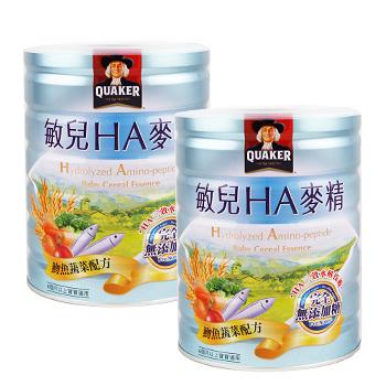 桂格QUAKER 敏兒HA麥精吻魚蔬菜配方700g (兩罐入)