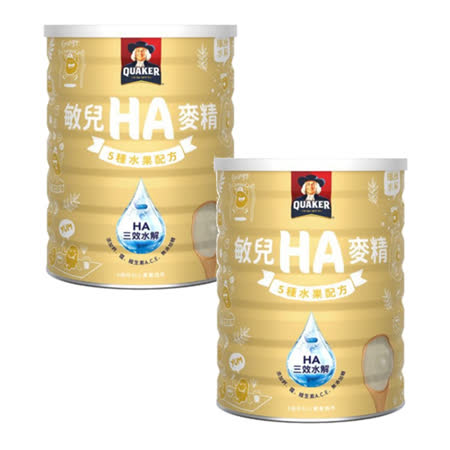 桂格QUAKER敏兒HA麥精五種水果配方700g (兩罐入)